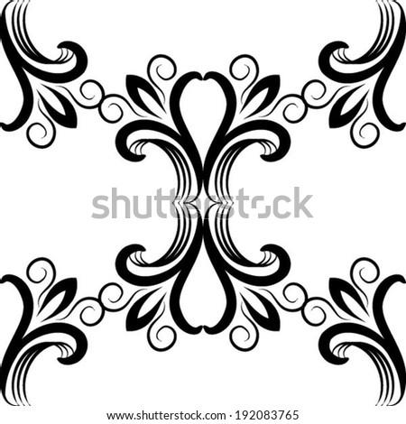 vector seamless damask pattern stock vector 192083765 shutterstock rh shutterstock com floral damask pattern vector royal damask pattern vector