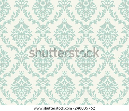 Vector seamless damask pattern. Ornate vintage background - stock vector