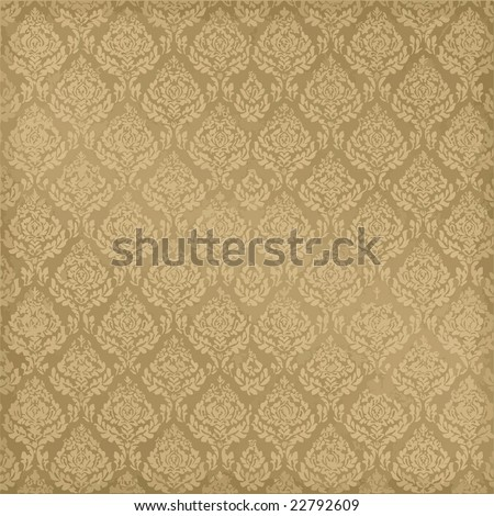 Vector Seamless Damask, See Jpeg Also In My Portfolio - stock vector