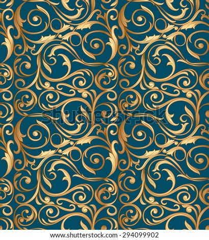 Vector seamless decorative pattern