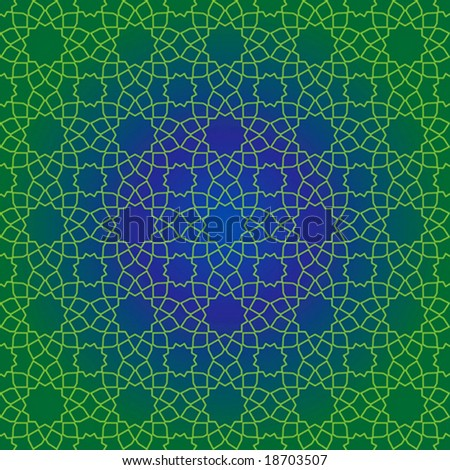 Vector seamless design of traditional Islamic geometric pattern - stock vector
