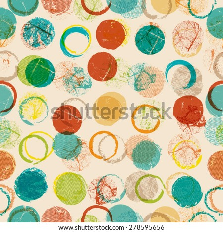 Vector Seamless Dotted Pattern . Seamless Texture . Halftone Dots Background . Vintage texture. - stock vector