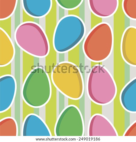 vector seamless easter pattern