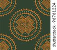 vector seamless ethnic pattern - stock vector