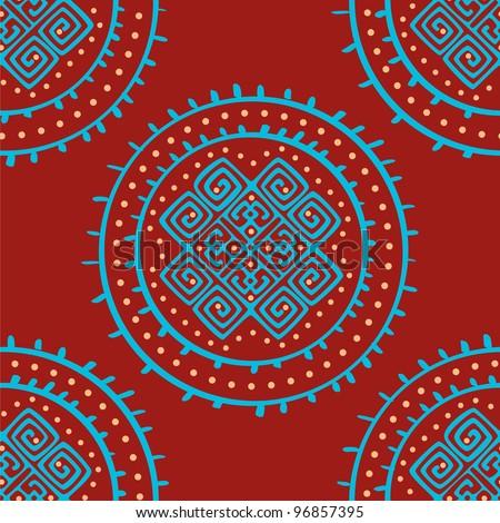 vector seamless ethnic pattern - stock vector