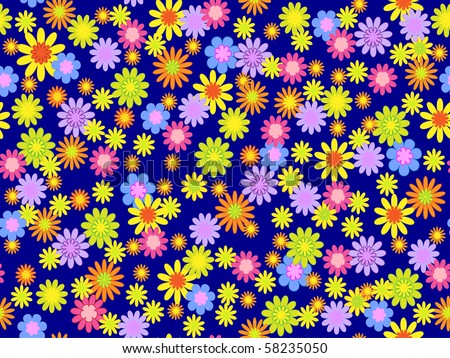 vector seamless floral illustration - stock vector
