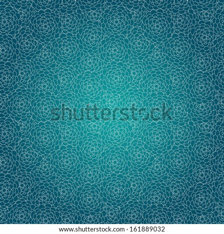 Vector seamless floral lace pattern. Blue background for your design. Seamless patterns are used in textile design, postcards, calendars, websites, wallpapers, packages.