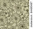 "Vector seamless floral pattern (from my big ""Floral collection"") - stock vector"
