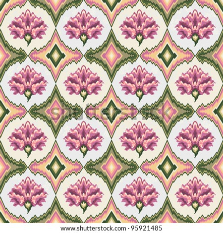 vector seamless floral pattern of pastel pink colors - stock vector