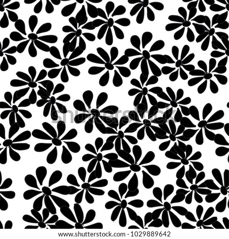 Vector seamless flower pattern background. Summer floral vector illustration.
