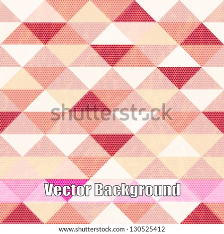 Vector Seamless geometric pattern - stock vector