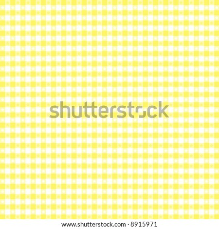 vector, Seamless Gingham Pattern in pastel yellow and  white for sewing, decorating, backgrounds. EPS8 file includes pattern swatch that seamlessly fills any shape. - stock vector