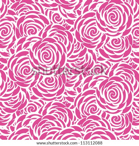 vector seamless hand drawn floral pattern background