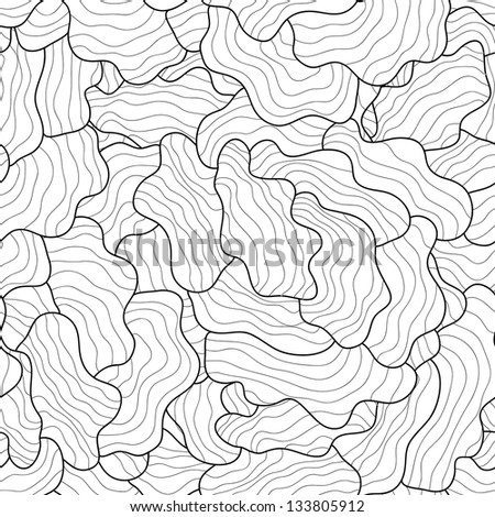 Vector seamless hand-drawn retro pattern. Vintage vector seamless pattern. Can be used for wallpaper, pattern fills, web page background, surface textures, prints. Gorgeous seamless wave background - stock vector