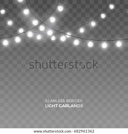 Christmas Light Bulb Border Black And White
