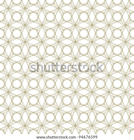 Vector seamless illustration of tangier grid, abstract guilloche ornament - stock vector