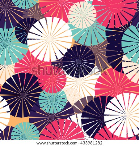 Vector Seamless  Irregular  Transition Abstract Background Pattern