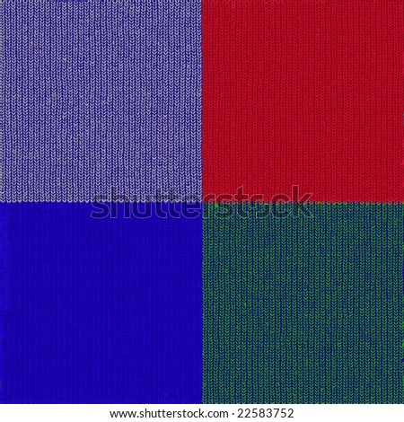 Vector Seamless Knit Wool Set, See Jpeg Also In My Portfolio - stock vector