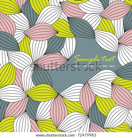 Vector seamless leaf pattern