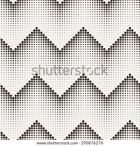 Vector seamless minimalistic monochrome geometrical pattern of dots - stock vector