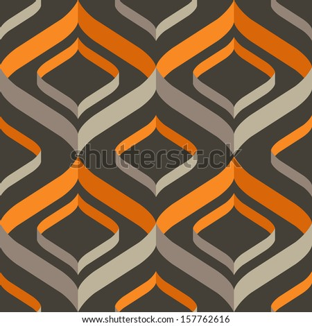 Vector seamless modern pattern: repeated stylish texture on gray  - stock vector