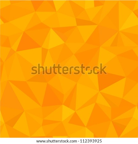 Vector seamless - orange triangle (geometric pattern)