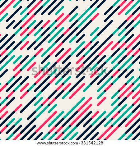 Vector Seamless Parallel Diagonal Red Green Overlapping Color Lines Pattern Background