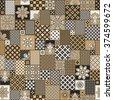 vector seamless patchwork...
