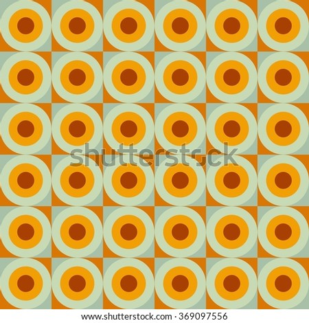 Vector seamless pattern. Abstract background made of colorful rounds