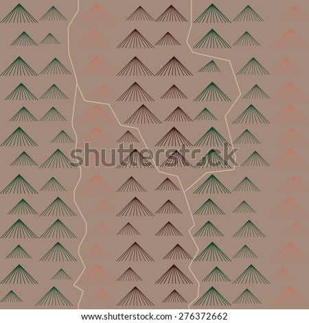 Vector seamless pattern. Abstract map background. - stock vector