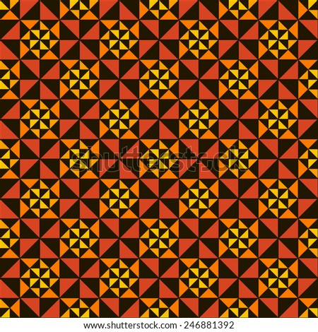 Vector seamless pattern. Abstract ornament. Geometric bright background. - stock vector