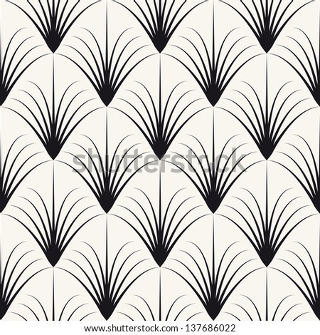 Vector seamless pattern. Abstract stylish background - stock vector