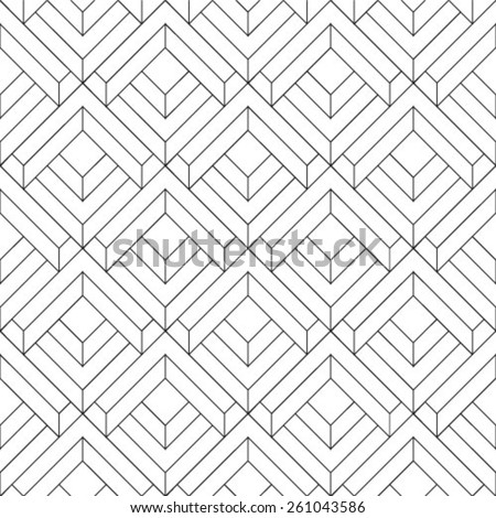 Vector seamless pattern. Abstract stylish background. - stock vector