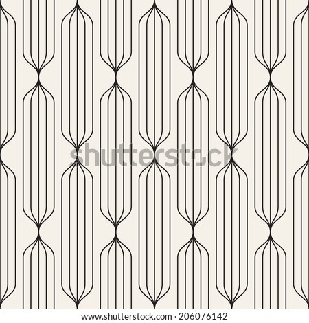 Vector seamless pattern. Abstract stylish background. Linear striped texture - stock vector