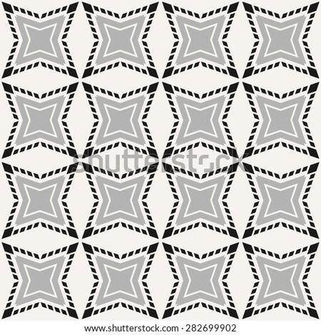 Vector seamless pattern, abstract tiles - stock vector