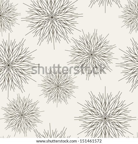 Vector seamless pattern. Christmas texture. Background with snowflakes