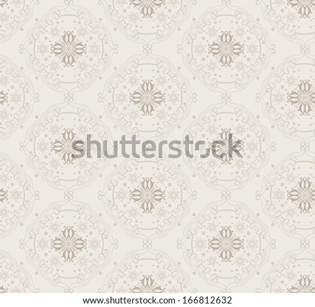 Vector seamless pattern. Damask decorative wallpaper for walls. Repeating. abstract background - stock vector