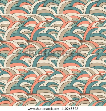 Vector seamless pattern. Delicate texture. Abstract background - stock vector