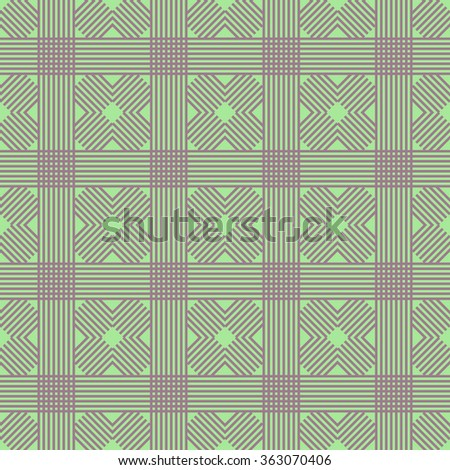 Vector seamless pattern. Fabric background with abstract geometric ornament. Vector fabric pattern. Monochrome textile background. Ethnic seamless background. Simple geometric pattern. - stock vector
