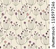 Vector seamless pattern. Floral stylish background. Delicate girlish texture - stock vector