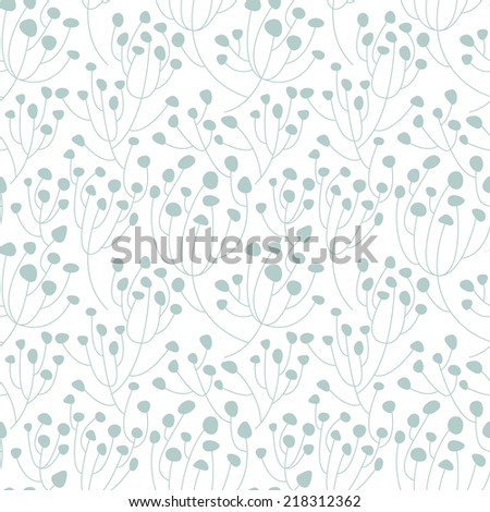 Vector seamless pattern. Floral stylish background. Stylish texture - stock vector