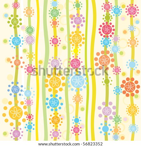 Vector seamless pattern for your design - stock vector
