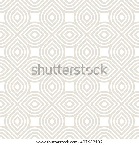 Vector seamless pattern. Geometric graphic design. Decorative background with striped petals. Minimalist simple ornament. - stock vector