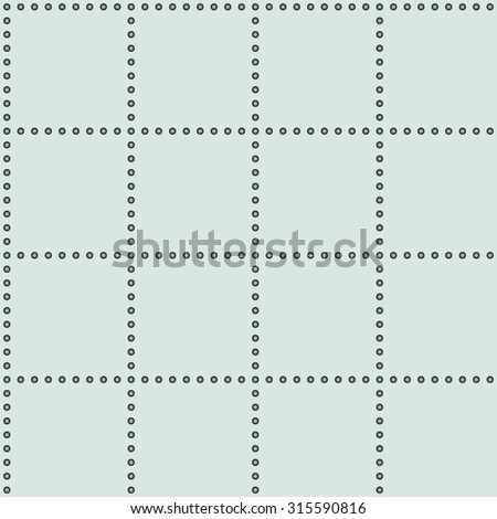 Vector seamless pattern. geometric square tiles with circles - stock vector