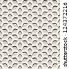 Vector seamless pattern, geometric textures with volume effect - stock vector