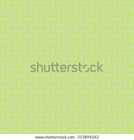 Vector seamless pattern. geometric tiles with green network - stock vector