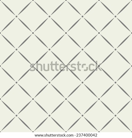 Vector seamless pattern. Geometric tiles with rhombuses. - stock vector