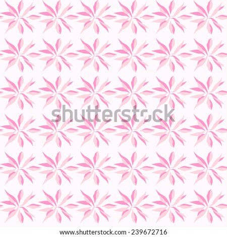Vector seamless pattern. Hand drawn floral texture. Flowers vector design - stock vector