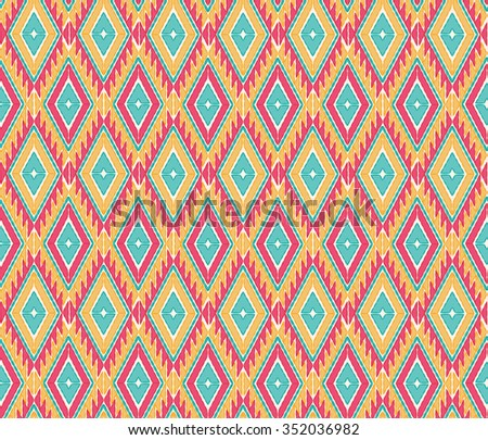 Vector seamless pattern in mexican style. Seamless abstract ethnic ornament - stock vector