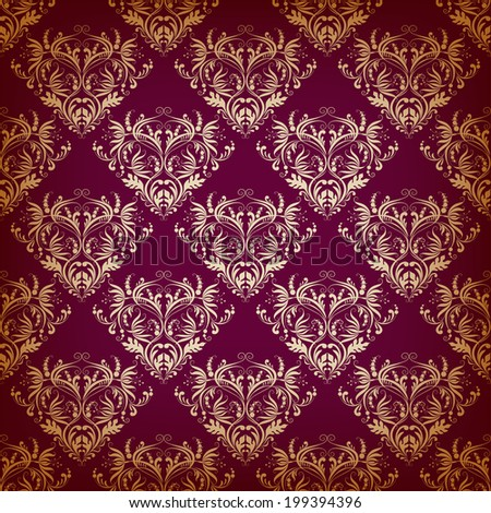 Vector seamless pattern in Victorian style. Element for design.